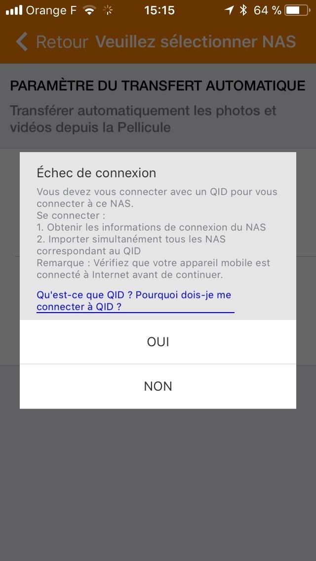 QFile sur Iphone impossible d atteindre le NAS - Mac OS - QnapClub fr